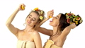 Hair care and facial mask from fruits and woman 35685694