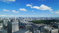 Tokyo Classic Scenery Timelapse Downtown View Summer Blue Sky and Green Horizon Zoom In 35903649
