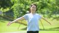 深呼吸 女性 体操の動画 35987711
