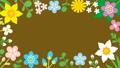 ループ素材 リズムに乗って揺れる花のフレーム 36093931
