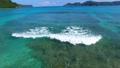 美しい海面を進む波をドローンで追う (奄美大島) 36216533