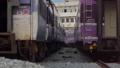 Zoom in of passenger train. 36593497