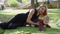 joyful, woman, park 36653362