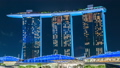 Timelapse Marina Bay Sands Hotel at night in 36771211