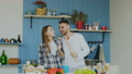 Slowmotion of Young joyful couple have fun dancing 36797787