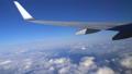 日本上空 雲の上の風景 空撮 飛行機の翼にズーム 36807604