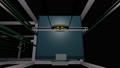 투명한 배경으로 이동하는 엘리베이터를 바로 위에서 촬영 한 애니메이션 36998814