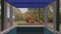 상승 할 전망 용 엘리베이터의 창문에서 바라 보는 단풍 공원의 경치 애니메이션 37014497