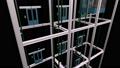동일 층에 모이지 않고 효율적인 운행하고있는 전망 용 엘리베이터의 배경이 투명한 애니메이션 37021869