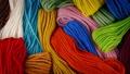 Colorful Mixed Yarn Rotating 37082733