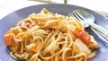 Fresh spaghetti chicken on plate. Italian food. 37281300