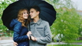 couple, umbrella, embracing 37369535