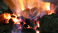 Heating of metal parts in blacksmith furnace 37397530