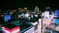 东京银座游戏中时光倒流夜景银座街银座4丁目俯瞰颜色分级 37416625