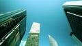 日本东京高层建筑,抗震设计图像延时太阳能反射在建筑物窗户颜色分级 37466465
