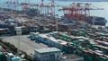 东京港Aomi集装箱码头高速timelapse白天倾斜 37741294