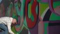 Young urban painter drawing bright graffiti on 37823107