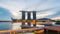 Singapore city skyline night to day time lapse 37828355