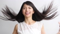 Young woman, hair care image 37857912