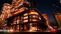 东京丸之内东京车站广场夜景timelapse人和车辆颜色分级 37895308