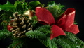 Christmas Wreath With Pine Cone And Holly 37907846