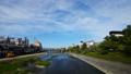 在Kamogawa Shijo Ohashi橋樑的京都都市風景Timelapse視圖 37964689