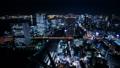 东京夜视图timelapse宽充满活力的都市风景倾斜下来 38087639