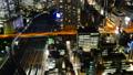 东京夜视图timelapse大城市充满活力的都市风景关闭狭窄 38095765