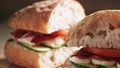 italian sandwich with speck and mozzarella 38102372
