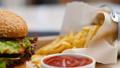 unhealthy junk food dinner french fries menu set 38152561