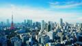 โตเกียวทาวเวอร์และตึกระฟ้าคัดเกรดสีตามกำหนดเวลา 38171677