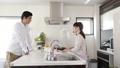 カウンターキッチン カップル キッチンの動画 38445472