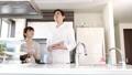 カウンターキッチン カップル キッチンの動画 38446787