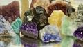 Semiprecious stones lies on the mirror 38463092