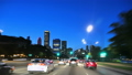 Downtown Chicago at Sunset Driving at Full Speed 38600671