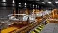 Moving conveyor belt with frameworks of cars 38622640