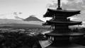 富士山 富士 モノクロの動画 38638936