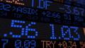 Stock market ticker digital data 38663199