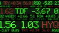 Stock market ticker digital data 38663205
