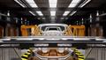 Moving conveyor belt with frameworks of cars 38696928