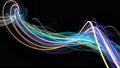 Minimalist flowing streaks of light background 38847475