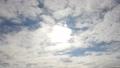 太陽正面、厚い雲が後ろ、手前を薄い雲が流れます。タイムラプス動画 38849696