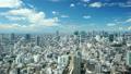 東京・爽やかな夏空・流れる白い雲 渋谷を中心とした都市風景 タイムラプス ティルトアップ 38853211