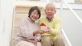 家の模型を持つシニアカップル フィックス 38882152