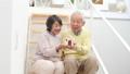 家の模型を持つシニアカップル ズーム 38882155
