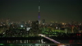 Time lapse Tokyo sky tree aerial view at night 38918814