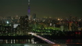 Time lapse Tokyo sky tree aerial view at night 38918815