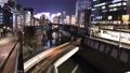 東京ナイトビュー 御茶ノ水、聖橋 行き交う列車、車 タイムラプス フィックス 38991642