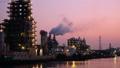 일본의 산업 석유 콤비나트 석유 화학 공장 저속 황혼에서 야경 fix 39052878