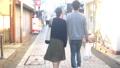 カップル 夫婦 商店街の動画 39057807